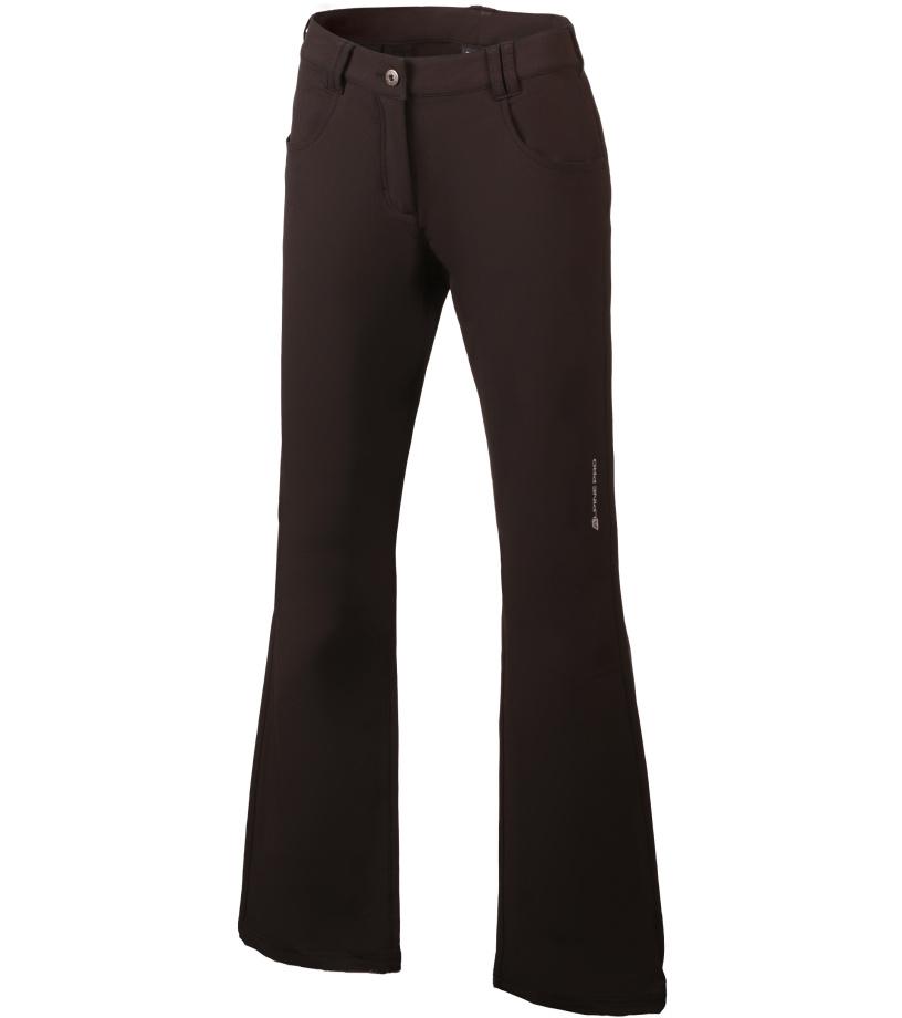 ALPINE PRO OMINECA Dámské softshellové kalhoty LPAH091990 černá 40
