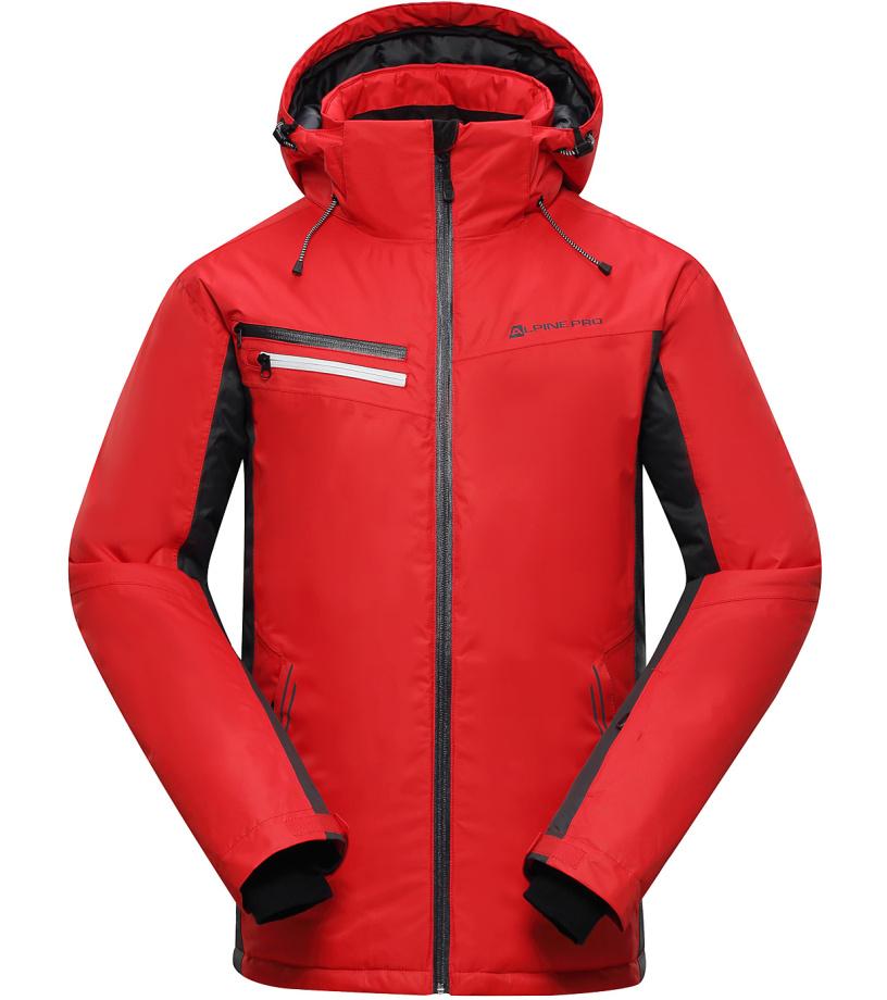ALPINE PRO BAUDOUIN Pánská lyžařská bunda MJCH162475 purpurový plamen S