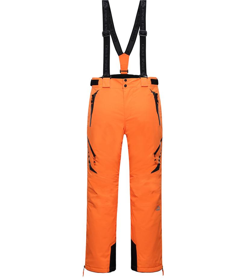 ALPINE PRO NUDD 2 Pánské lyžařské kalhoty MPAH156343 neon pomeranč S