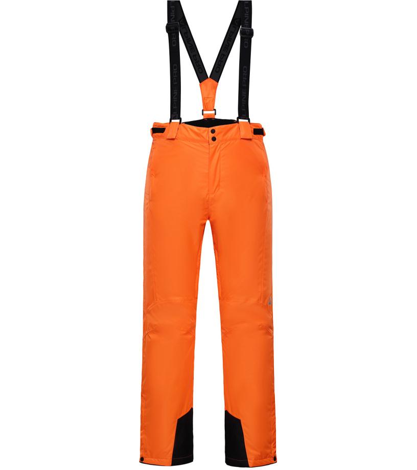ALPINE PRO SANGO 3 Pánské lyžařské kalhoty MPAH157343 neon pomeranč XS
