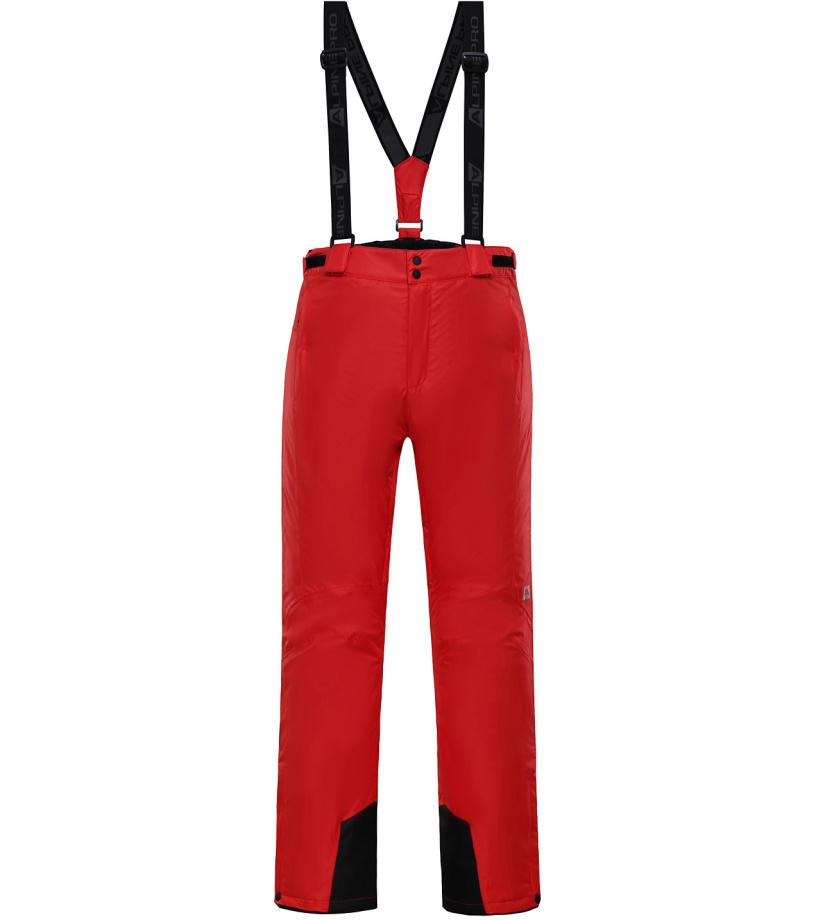 ALPINE PRO SANGO 3 Pánské lyžařské kalhoty MPAH157475 purpurový plamen