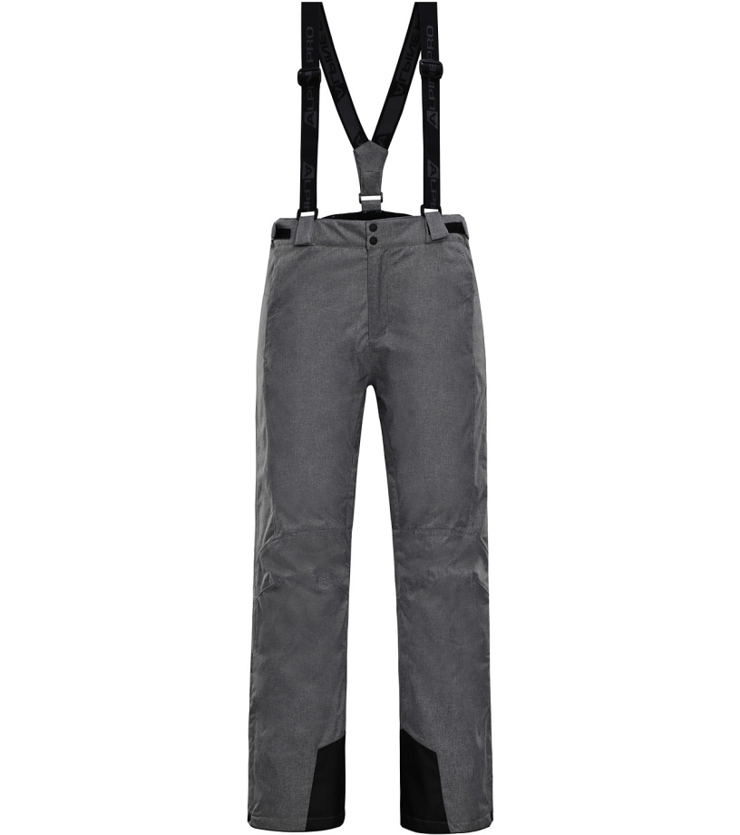 ALPINE PRO SANGO 4 Pánské lyžařské kalhoty MPAH162774 šedá S