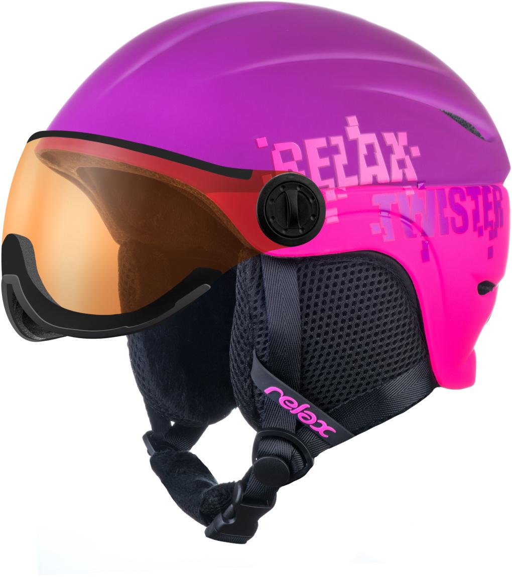 RELAX TWISTER VISOR Lyžařská helma se štítem RH27I fialová S