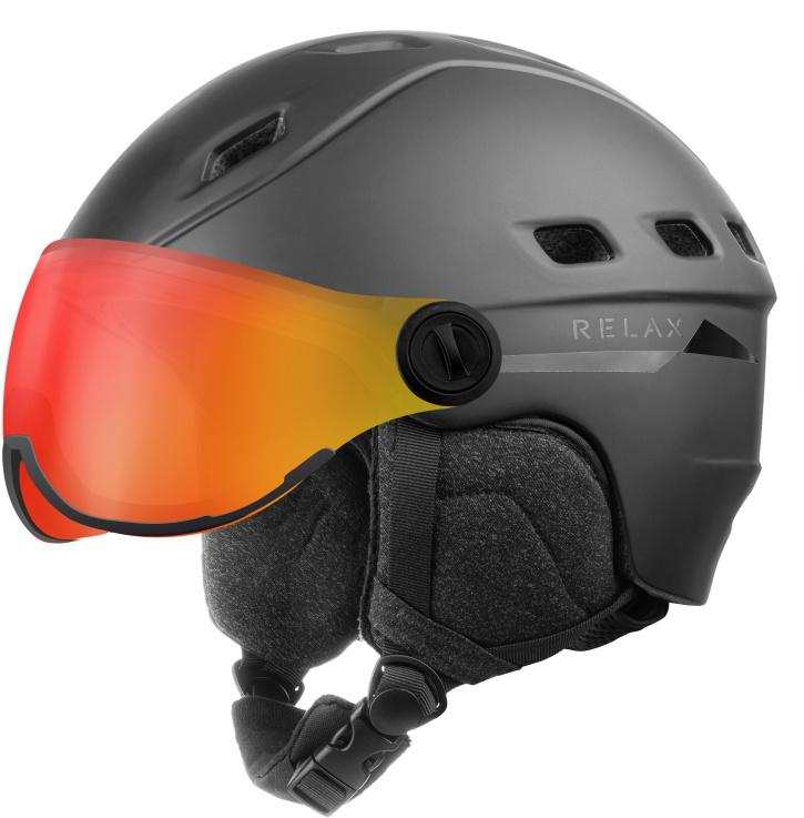 RELAX POLAR VISOR Lyžařská helma se štítem RH30A černá L