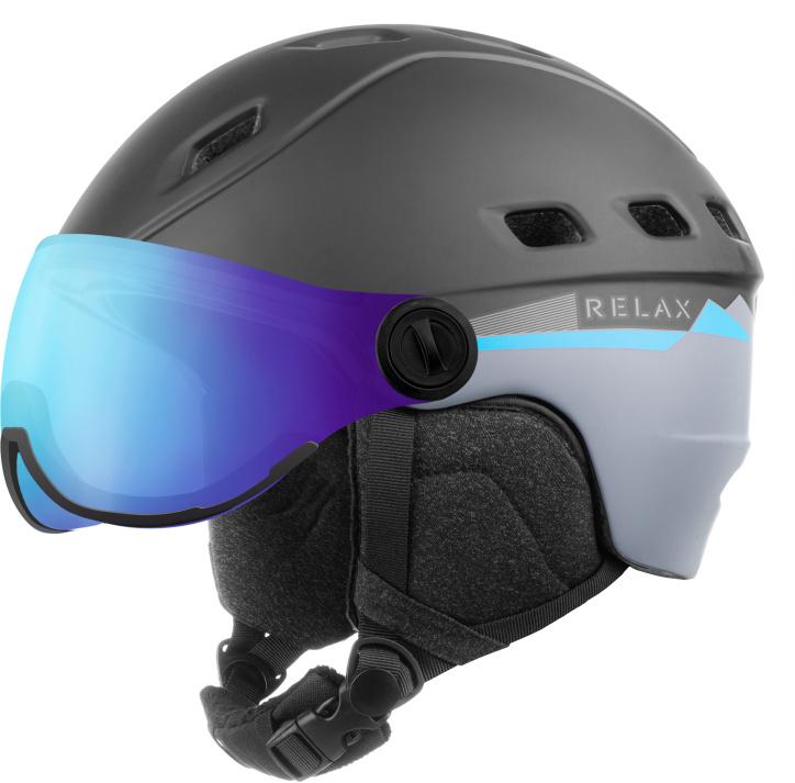 RELAX POLAR VISOR Lyžařská helma se štítem RH30B černá L