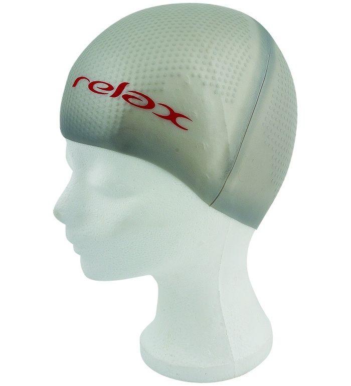 RELAX Plavecká čepice RCP06G stříbrná