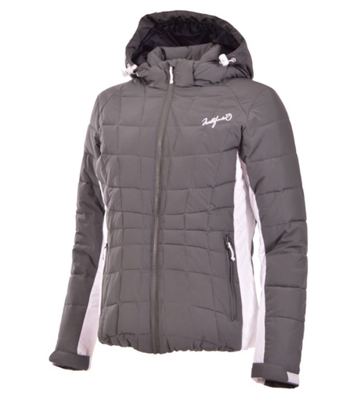 NORTHFINDER KATELYNN Dámská snowboardová bunda BU-4207SIII301 tmavě šedá M