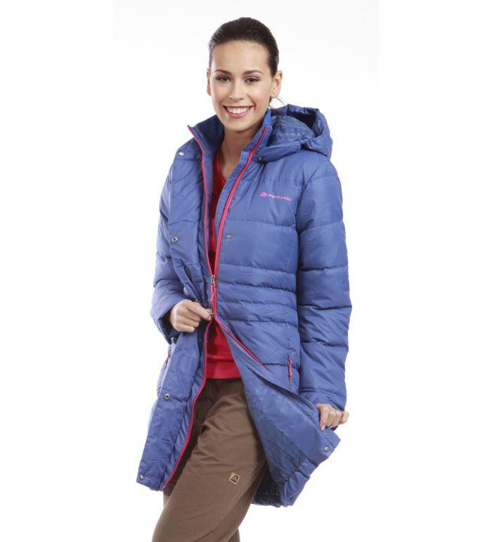 ALPINE PRO OMEGA Dámský kabát LCTD001619 modrá XL