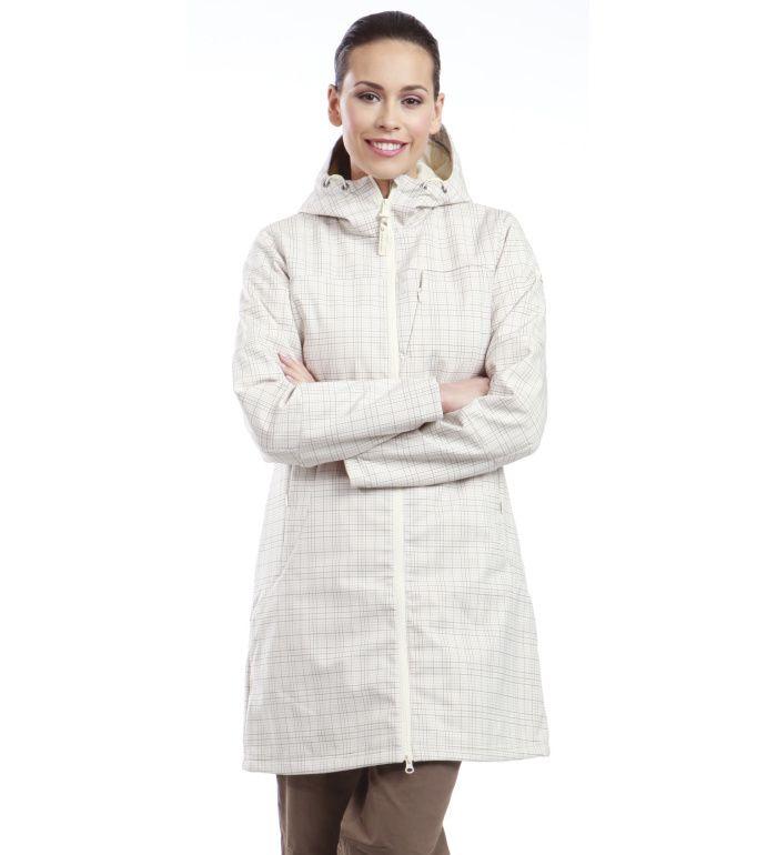 ALPINE PRO ASHERAH Dámský kabát LCTD003002PB krémová S
