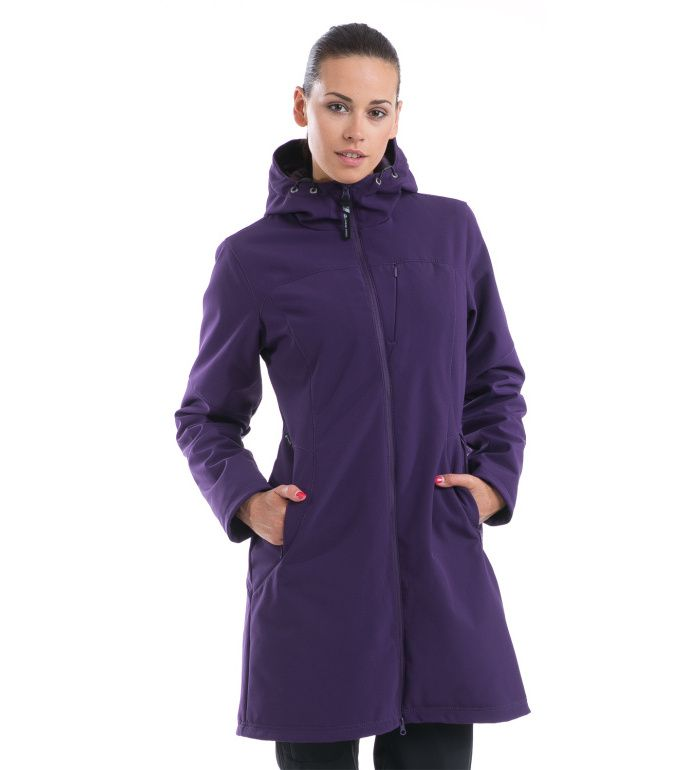 ALPINE PRO ASHERAH Dámský kabát LCTD003405PA ostružinová S