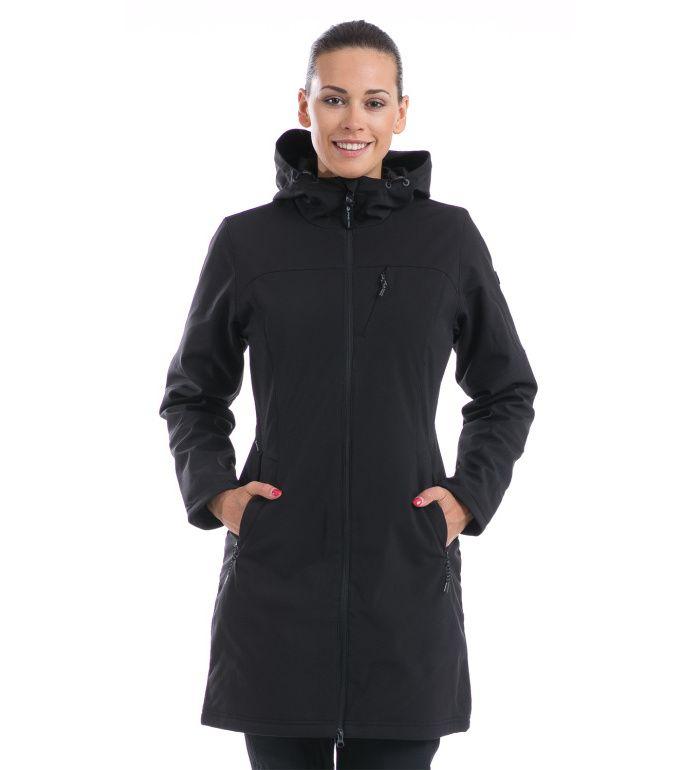 ALPINE PRO ASHERAH Dámský kabát LCTD003990PA černá M