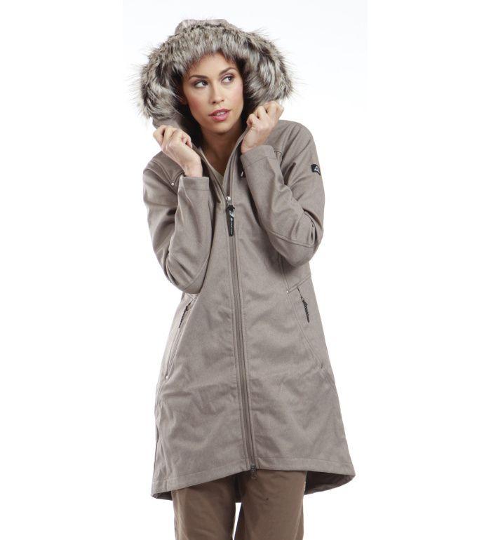 ALPINE PRO PRISCILLA Dámský softshell kabát LCTD010904 shitake XXL