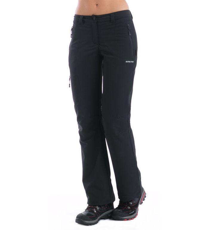 ALPINE PRO MURIA II. Dámské zateplené softshell kalhoty LPAD051990 černá 42