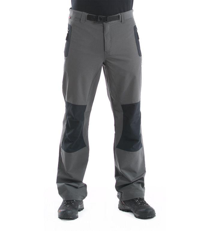 ALPINE PRO CARB Pánské softshell kalhoty MPAD002779 tmavě šedá 46