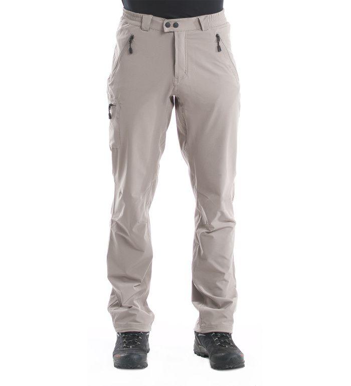 ALPINE PRO WAY Pánské zateplené softshell kalhoty MPAD057120 Fungi 56