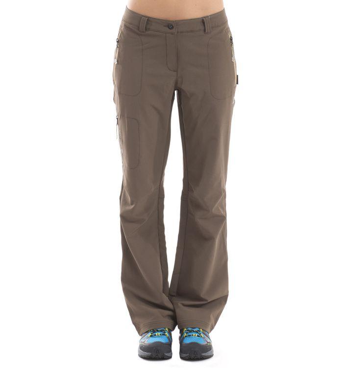 ALPINE PRO MURIA Dámské softshell kalhoty LPAC027913 tmavě hnědá 40