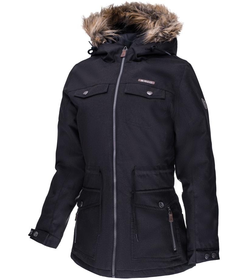 ERCO DARONIA Dámská zimní bunda 17W2035BLK Černá XXXL