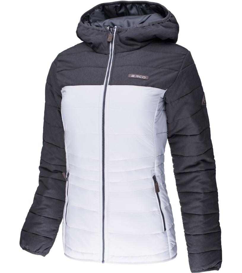 ERCO LIA Dámská zimní bunda 17W2039MEW Melange - bílá XXXL