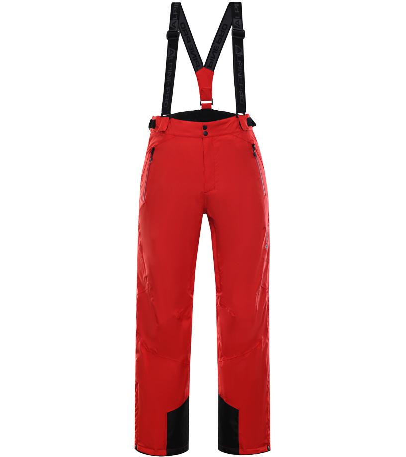 ALPINE PRO MOLINI 3 Pánské lyžařské kalhoty MPAK211475 purpurový plamen