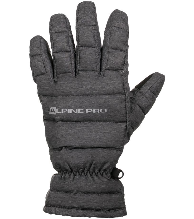 ALPINE PRO LEZET Unisex rukavice UGLK007779 tmavě šedá L