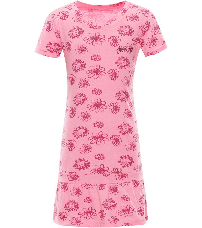 ALPINE PRO CHENOO 2 Dětské šaty KSKL025452 růžová 140-146