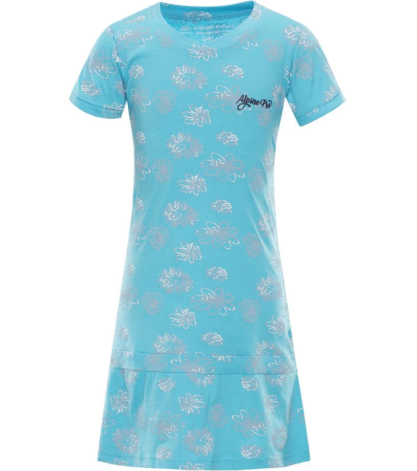 ALPINE PRO CHENOO 2 Dětské šaty KSKL025622 tyrkysová