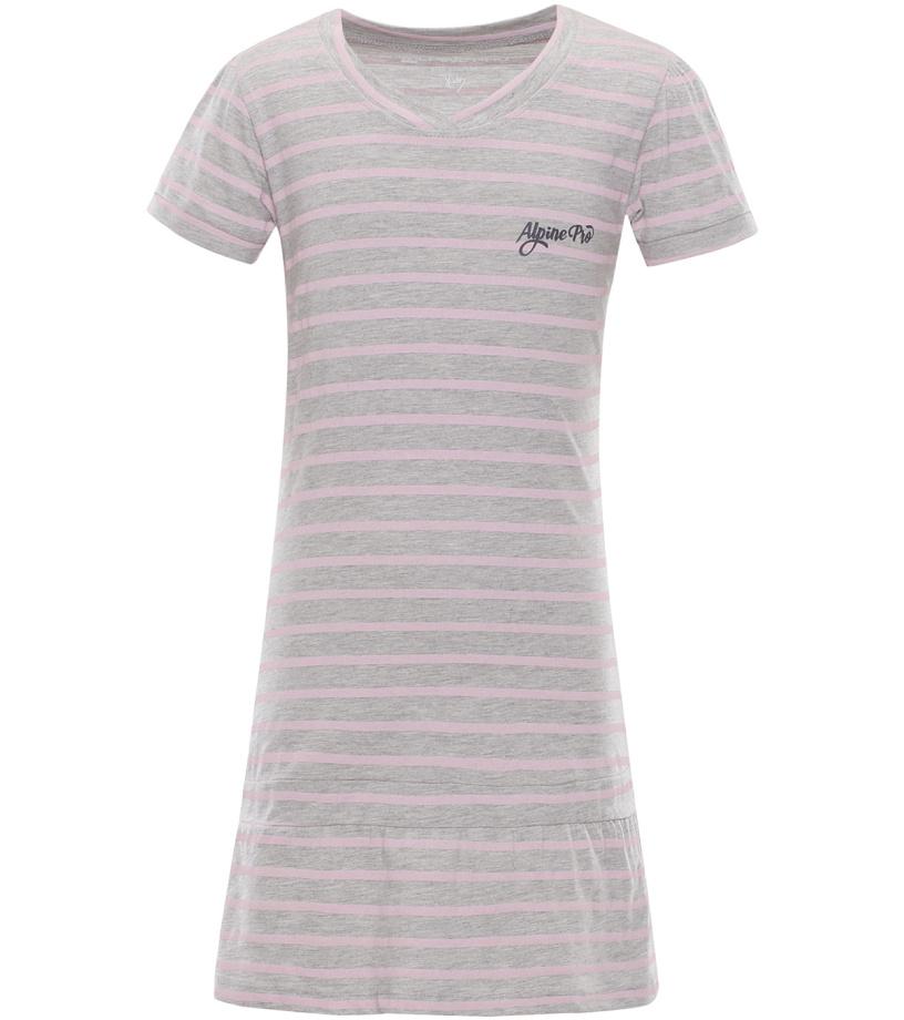 ALPINE PRO CHENOO 2 Dětské šaty KSKL025773PA šedá