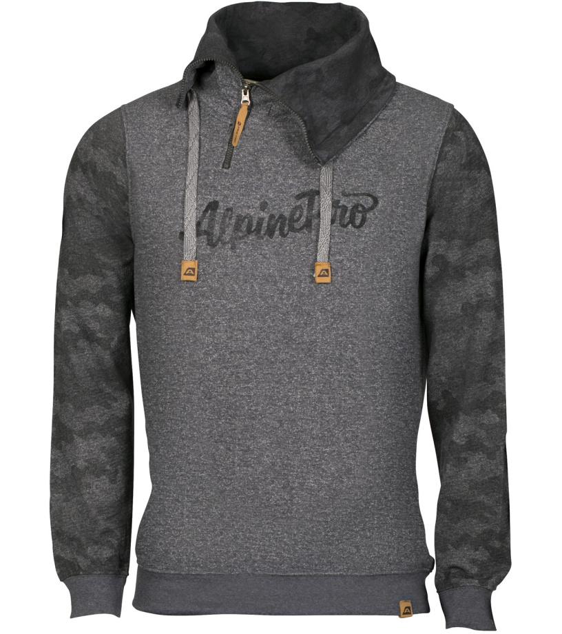 ALPINE PRO ELVAN Pánská mikina MSWL133779PA tmavě šedá