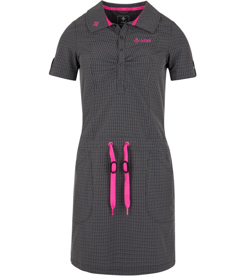 KILPI Dámské šaty KALKATA-W GL0044KIDGY Tmavě šedá 34