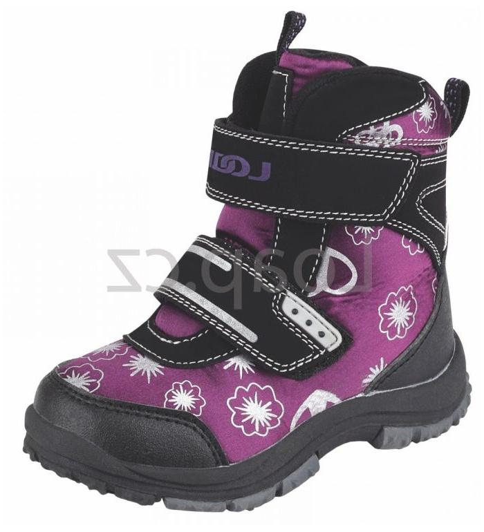 LOAP MARI Dětské zimní boty HSK13215K06V fialová/černá 27