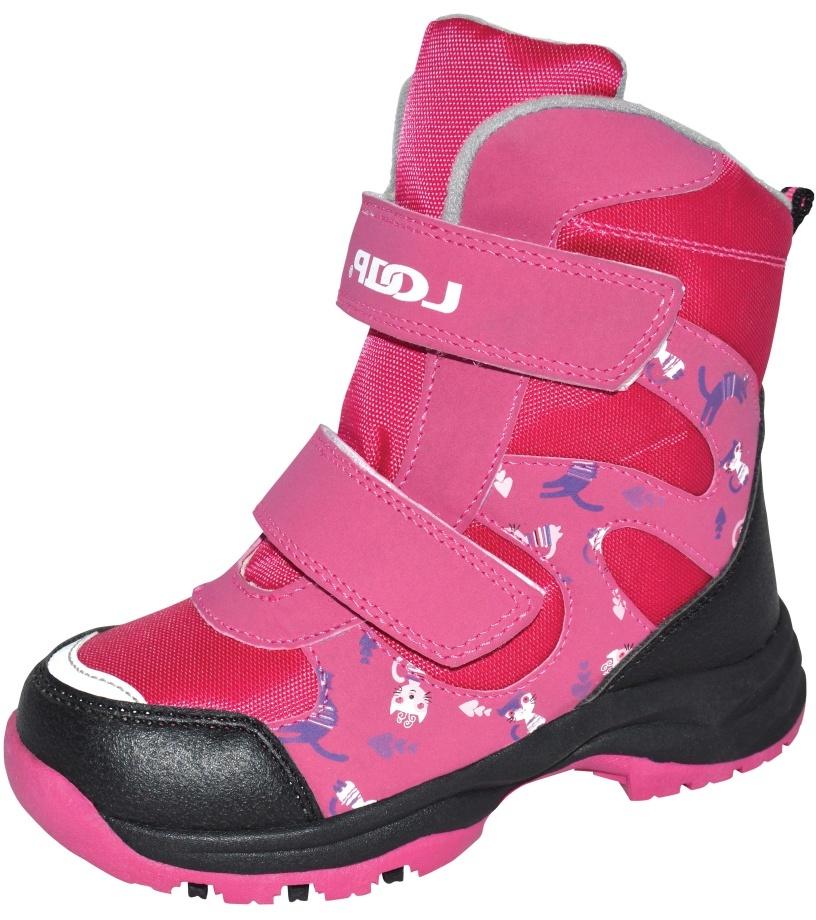 LOAP CHOSEE Dětská zimní obuv KBK1644J20V růžová 28
