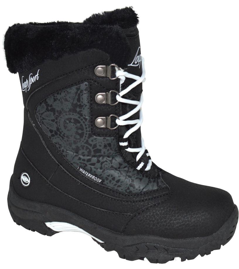 LOAP SPIRIT Dětská zimní obuv KBJ1652V11V pirátská černá