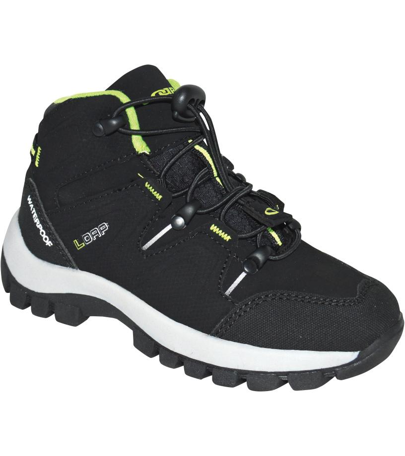 LOAP TARBY Dětská outdoorová obuv KBJ1770V11N černá/lime punch