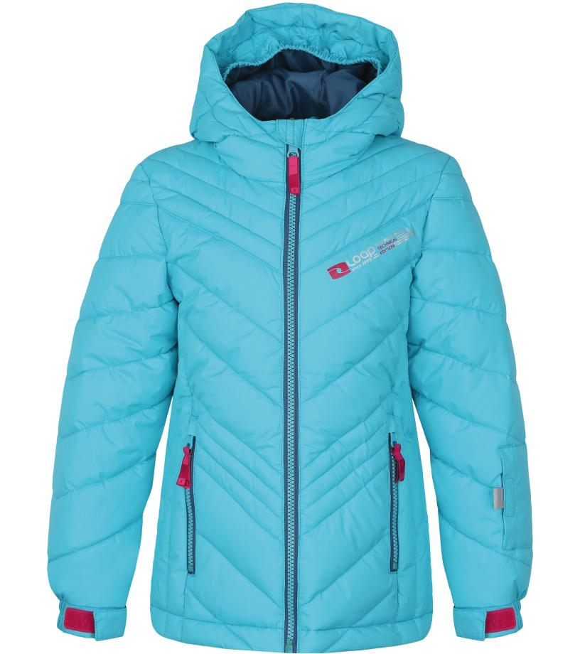 LOAP OGAVA Dětská lyžařská bunda L7143L17L modrá 128