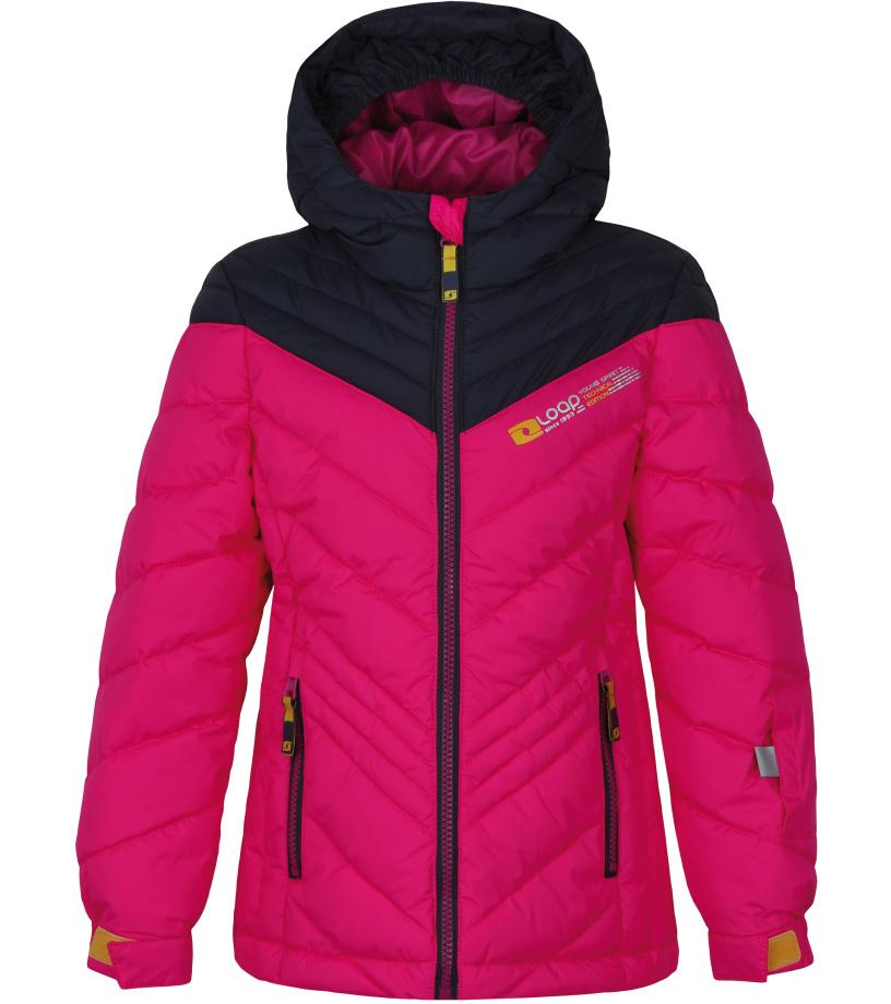 LOAP OMRAVA Dětská lyžařská bunda L7144J78J Růžová 116