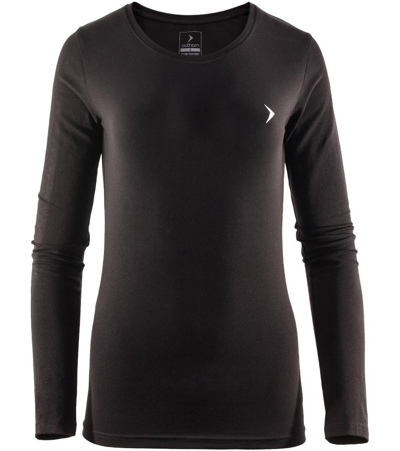 Outhorn Dámské triko s dlouhým rukávem TSDL600HOZ17BLK černá S