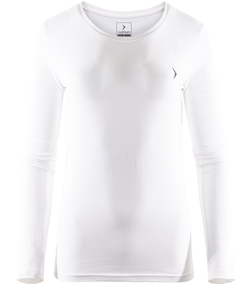 Outhorn Dámské triko s dlouhým rukávem TSDL600HOZ17WHT Bílá S