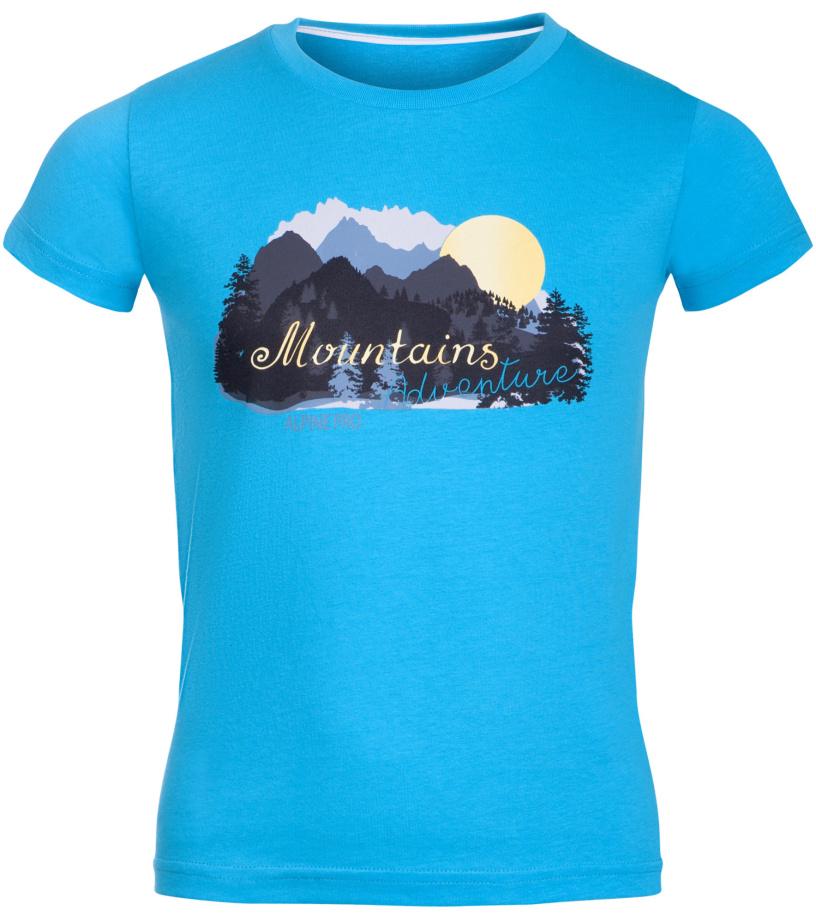 ALPINE PRO ANANO Dětské triko KTSL099622PA tyrkysová