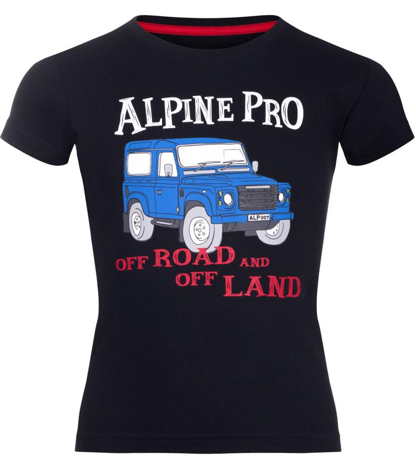 ALPINE PRO ANANO Dětské triko KTSL099990PB černá