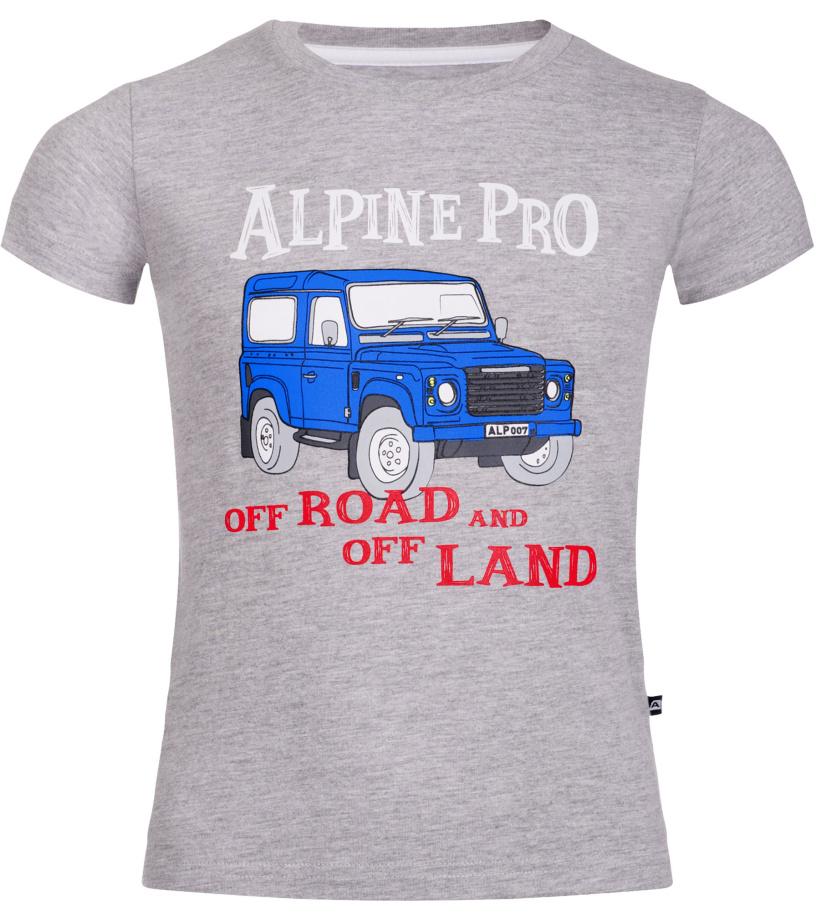 ALPINE PRO MARVO Dětské triko KTSL109773PA šedá