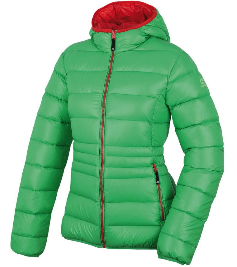 HANNAH Betlis Dámská péřová bunda 215HH0028HJ04 Green/geranium 36