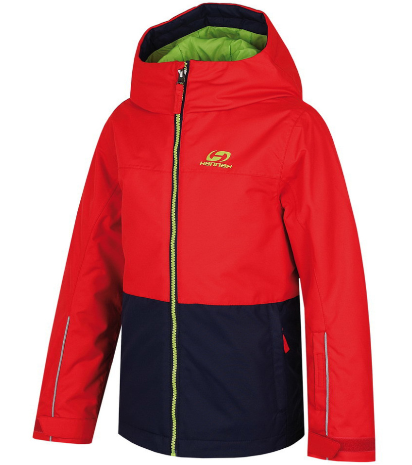 HANNAH Shifty JR Chlapecká lyžařská bunda 215HH0035HJ01 Fiery red/peacoat 128