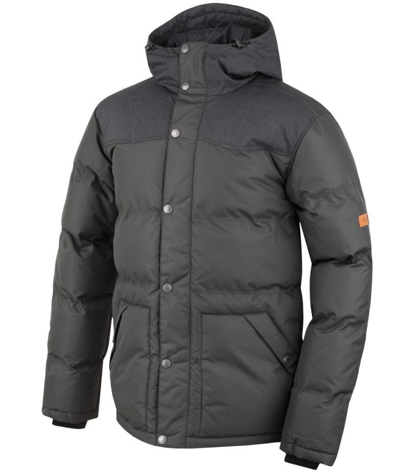 HANNAH Slasher Pánská zimní bunda 216HH0035HJ03 Black mel/peat XXL