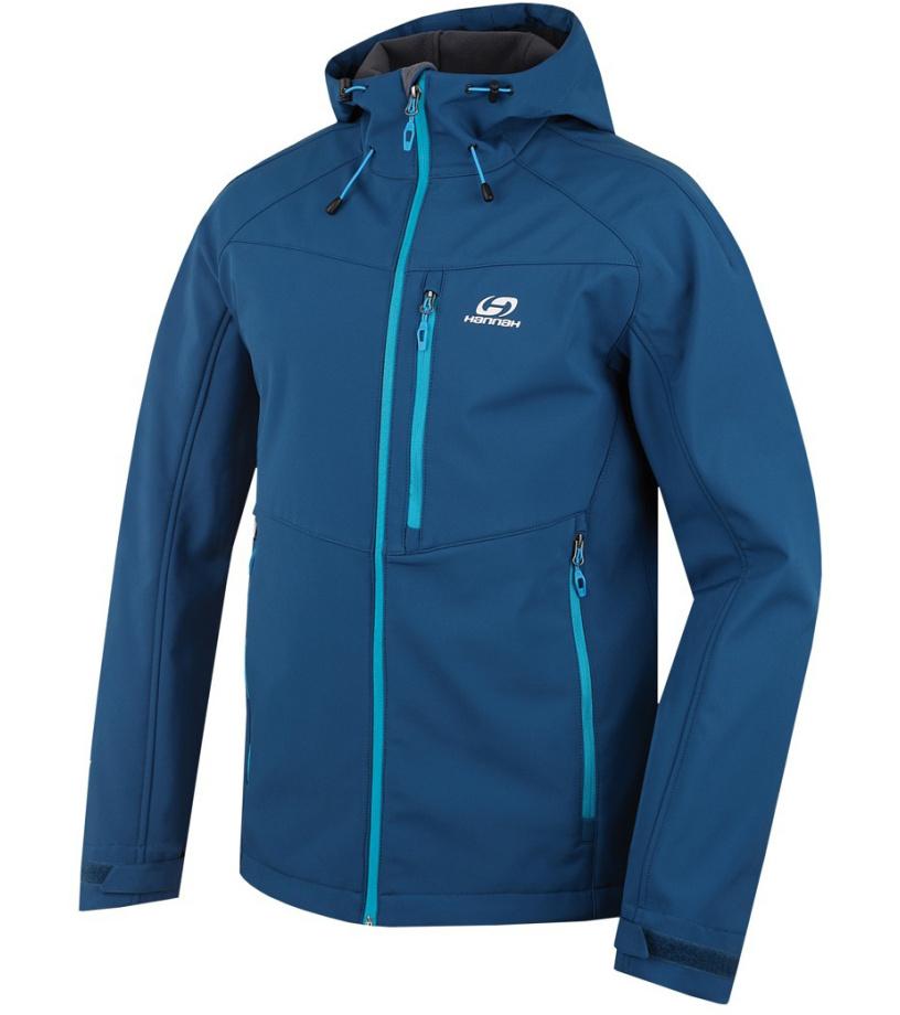 HANNAH Shiner Pánská softshellová bunda 216HH0041SJ03 Moroccan blue L