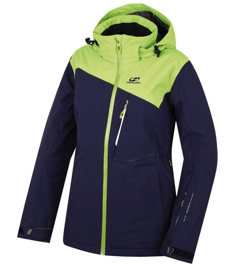 HANNAH Wayne Dámská lyžařská bunda 216HH0065HJ03 Peacoat/lime green 36