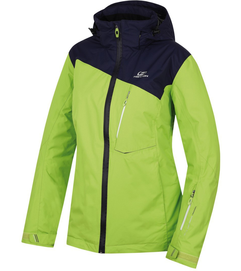 HANNAH Wayne Dámská lyžařská bunda 216HH0065HJ06 Lime green/peacoat 36