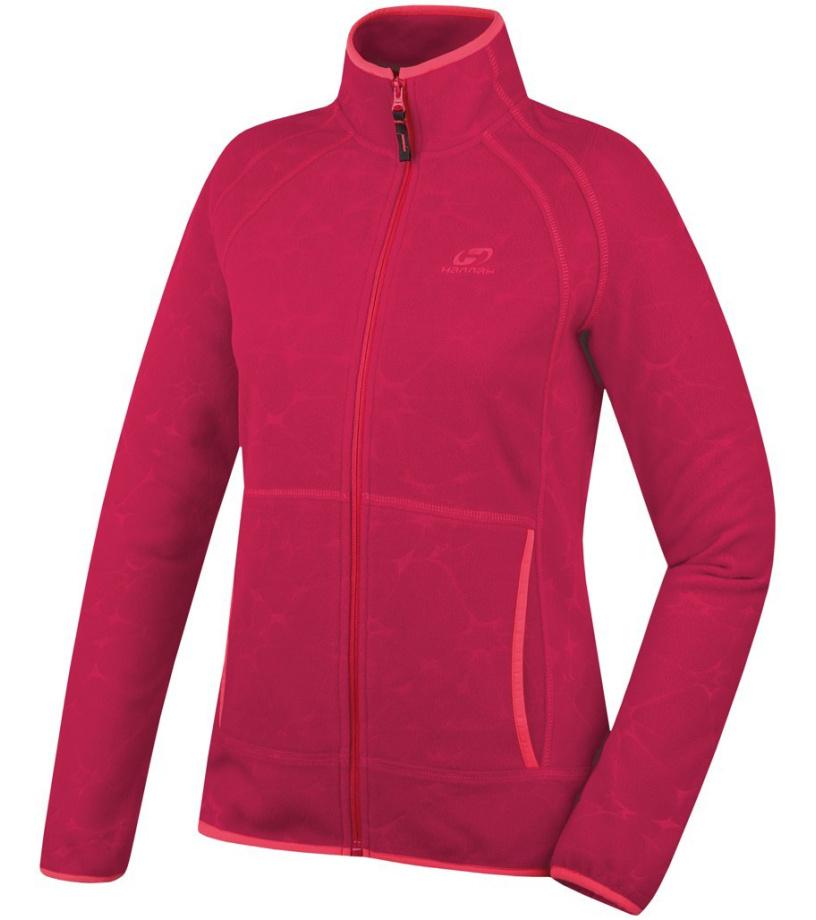 HANNAH Rozeeta II Dámská fleece mikina 216HH0096KJ02 Rose red 36