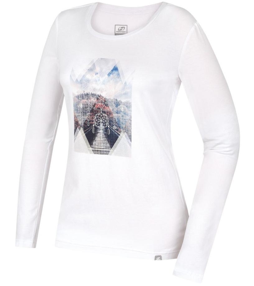 HANNAH Elisia Dámské triko s dlouhým rukávem 216HH0098KL04 Bright white 42