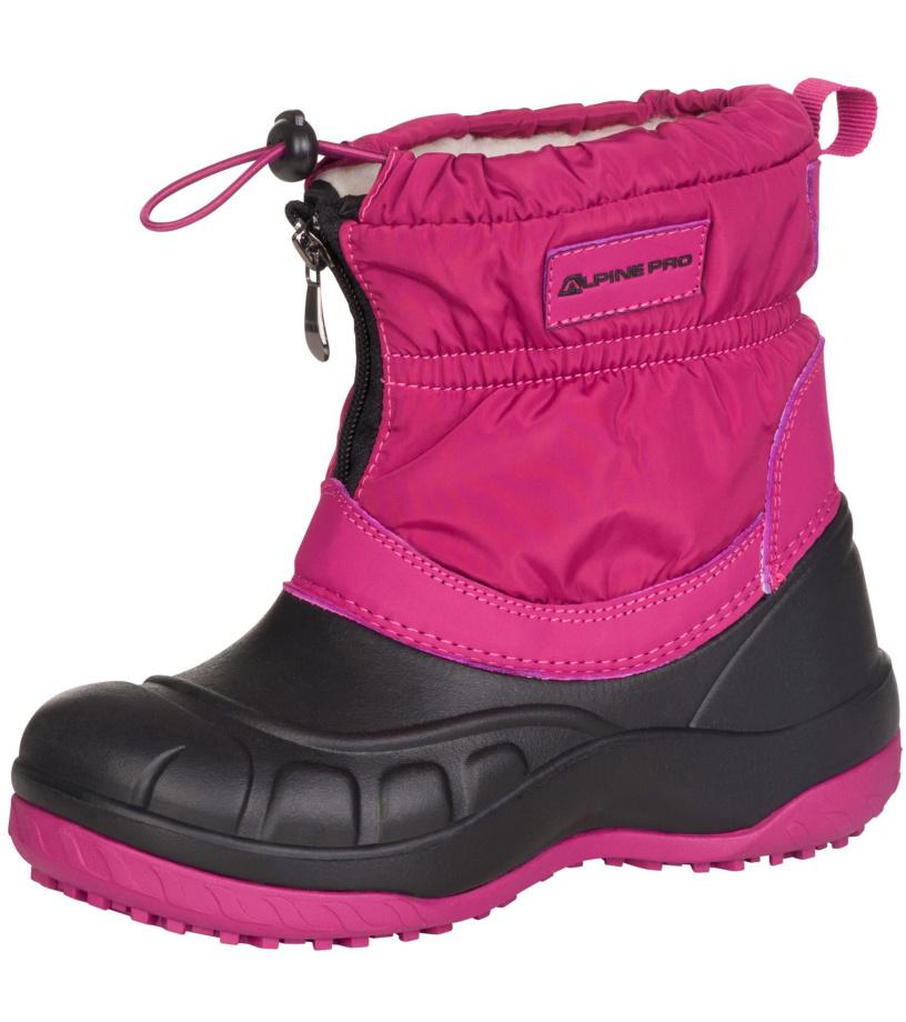 ALPINE PRO SAVIO Dětská zimní obuv KBTM177814 ostružinová