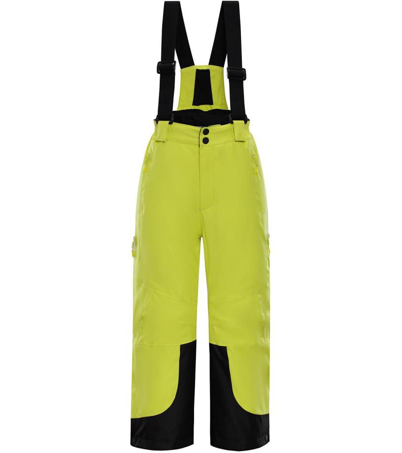 ALPINE PRO NUDDO 3 Dětské lyžařské kalhoty KPAM121564 Sulphur spring 128-134